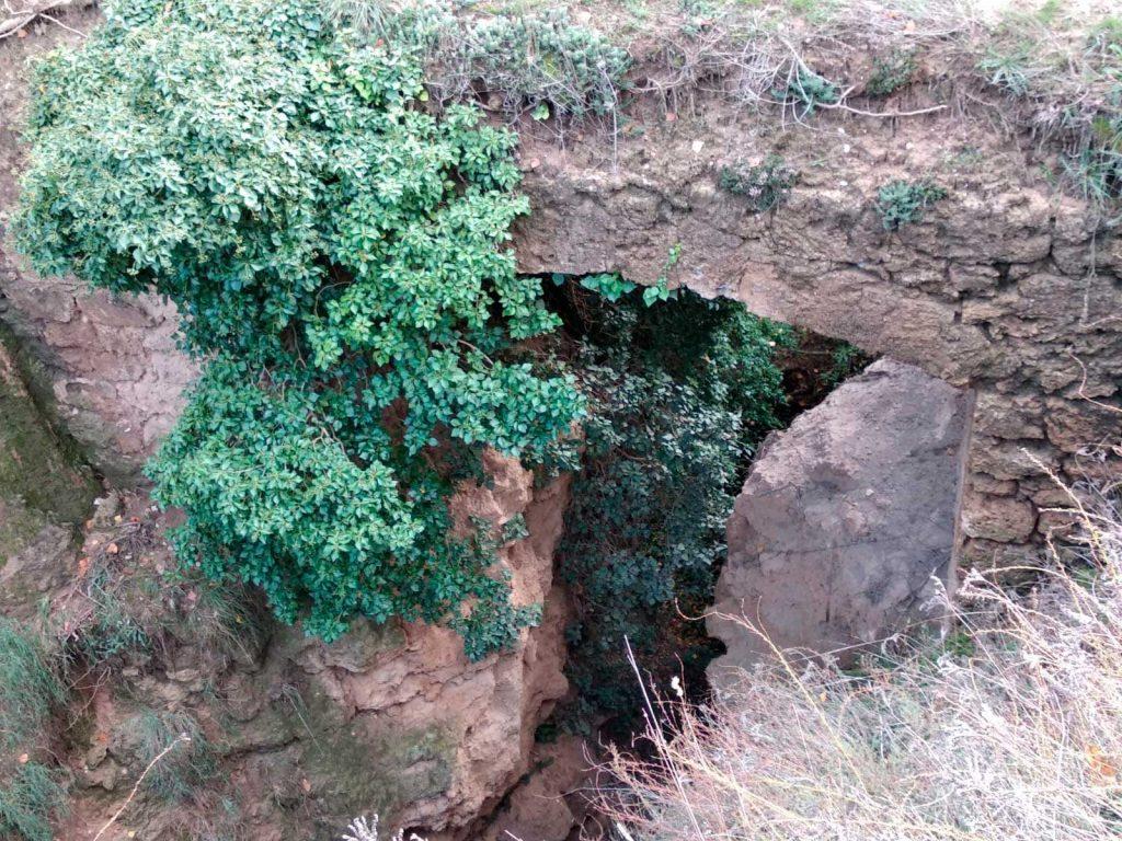 Puente romano del barranco Chaques. Ebrón